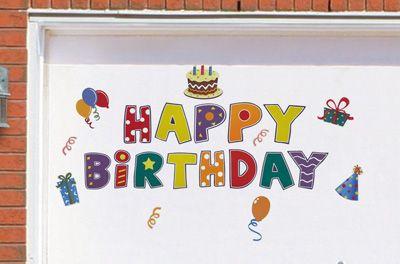Happy Birthday Garage Door Magnet Set Birthday Gifts