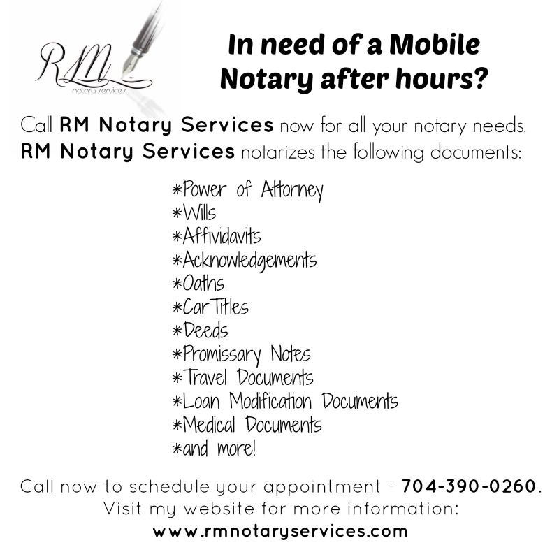 Rm Notary Services Notary Public Business Notary Notary Signing Agent