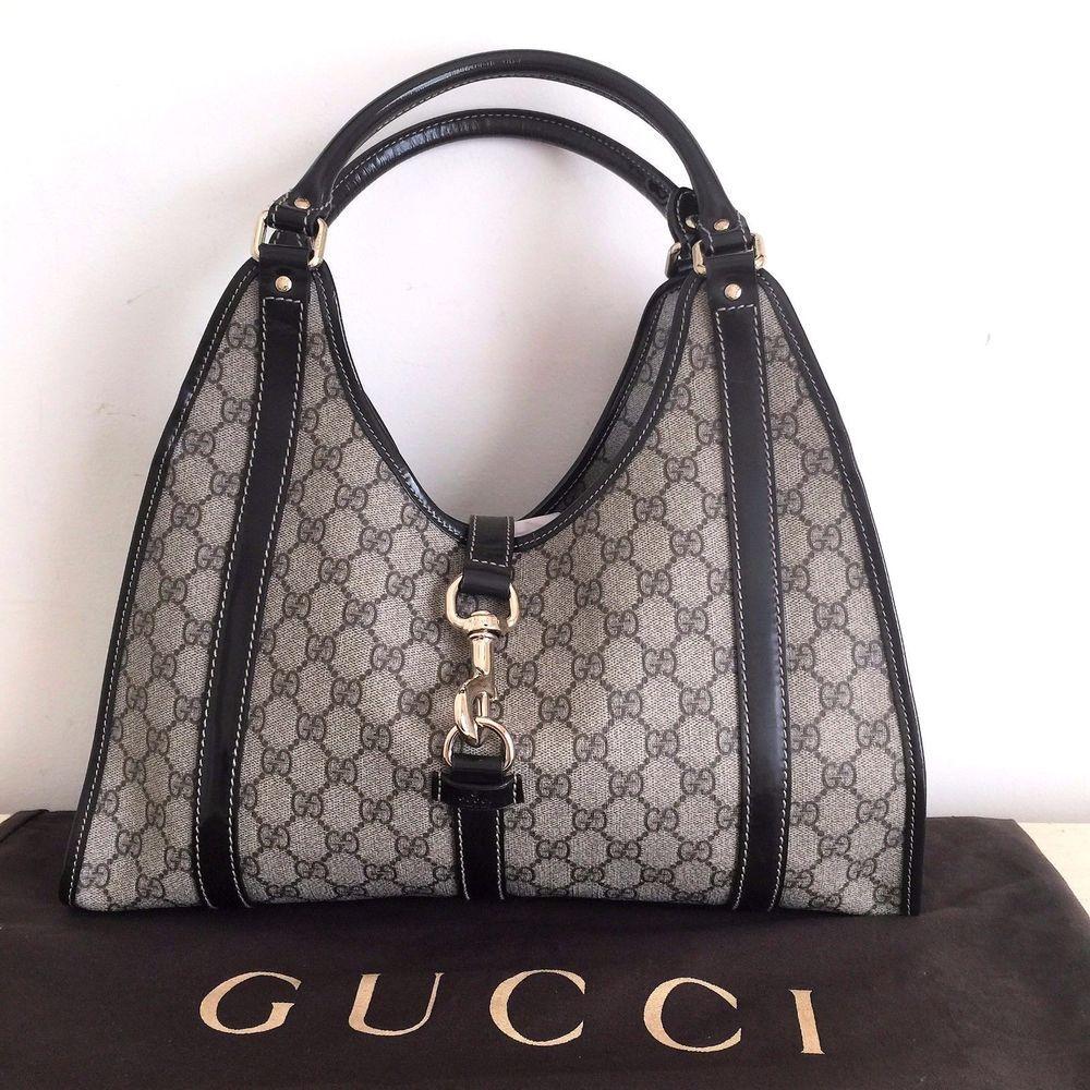 e2b15f84a988 Authentic Gucci Monogram Signature GG Hobo, Shoulder Bag, Purse, Handbag  203494 #Gucci #Hobo
