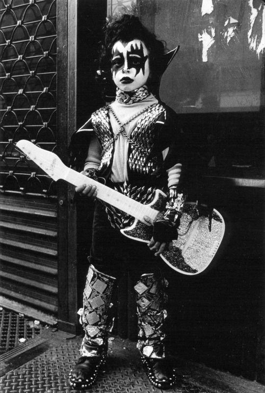 KISS, Halloween Parade, West Village, New York; captured by Arlene Gottfried (1978)