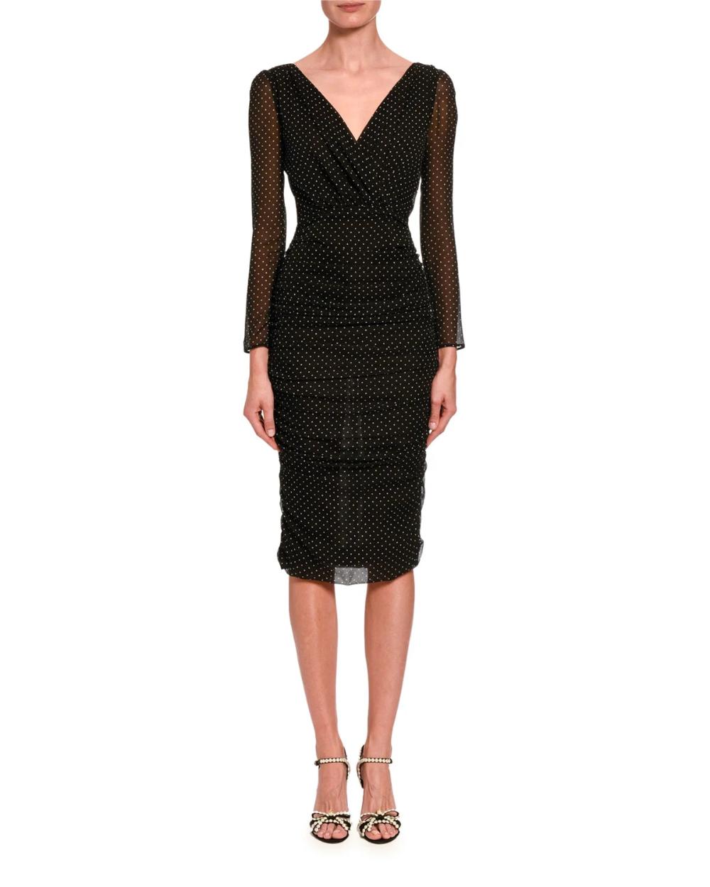 Dolce Gabbana Ruched Mesh Long Sleeve Midi Dress Long Sleeve Midi Dress Black Long Sleeve Midi Dress Long Sleeve Midi [ 1250 x 1000 Pixel ]