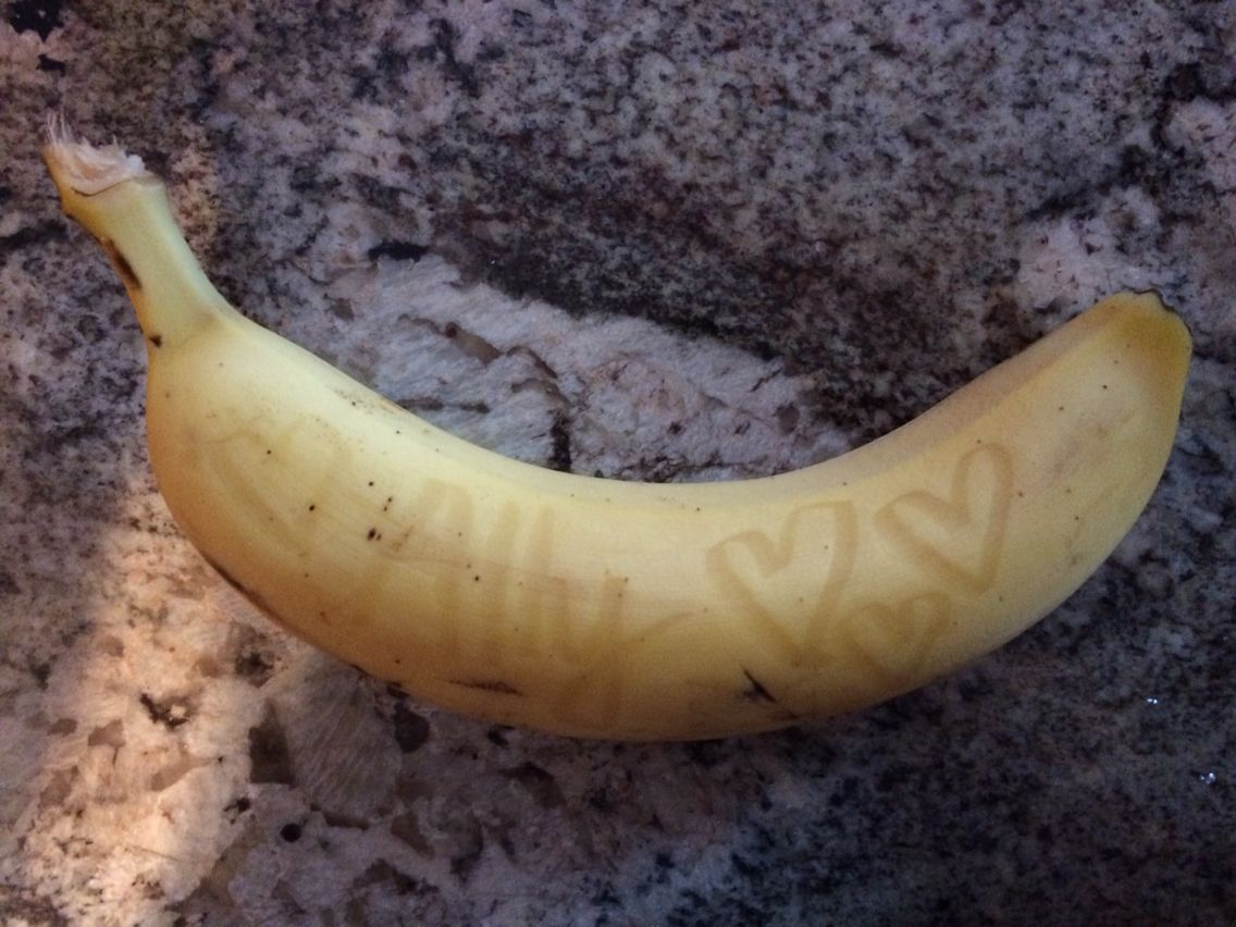 Banana I just wrote on :)