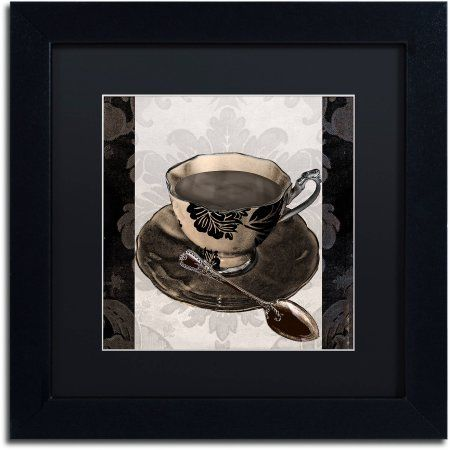 Trademark Fine Art Vintage Cafe IV Canvas Art by Color Bakery Black Matte, Black Frame, Assorted
