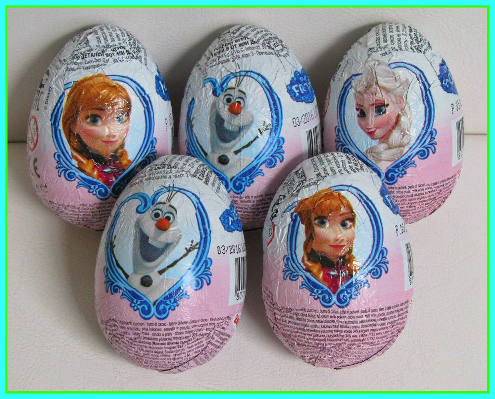 5 eggs x Chocolate Surprise Eggs with Toy -Disney Frozen | Toy
