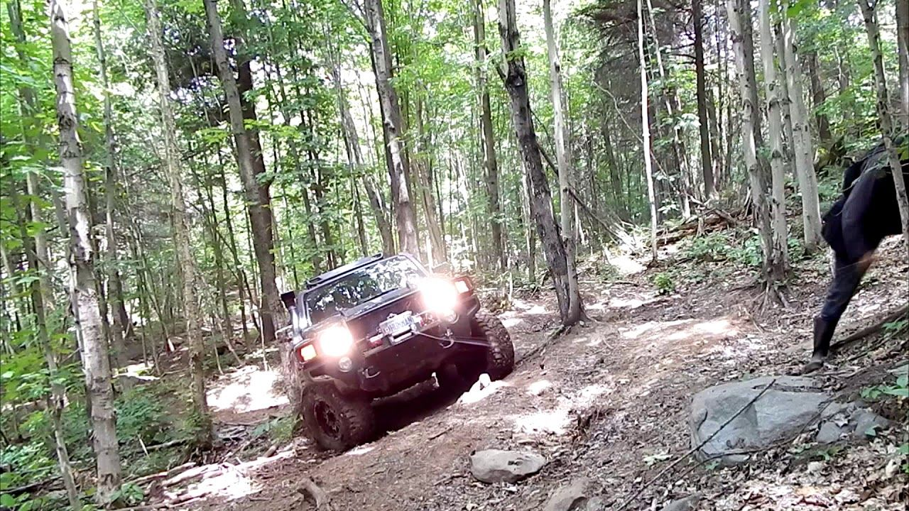 4x4 Off Road Using Winch On Tight Trails Hummer H3 Overlanding