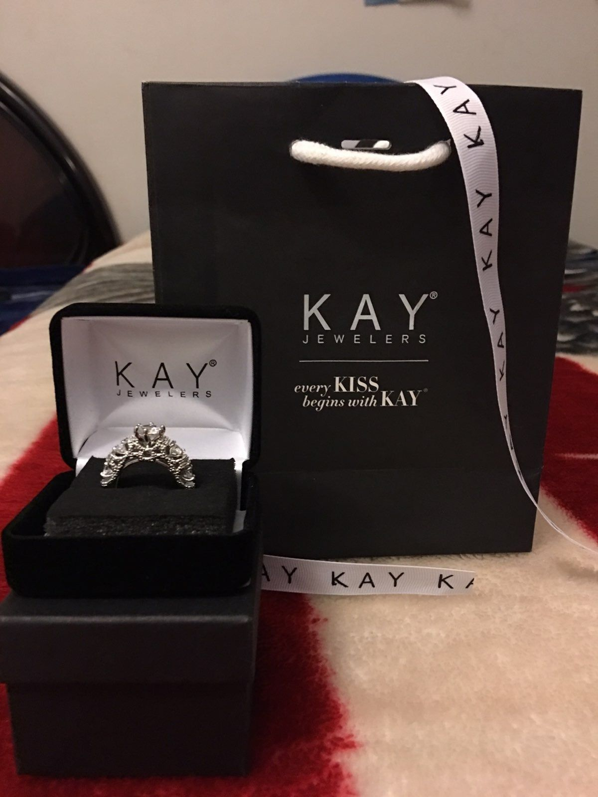 Brand New Kay Jewelers White Sapphire Silver Ring Comes With Gift Bag And Ring Box Included Ring Size 7 Kay Jewelers Kay Jewelers Necklaces Jewelry Promo