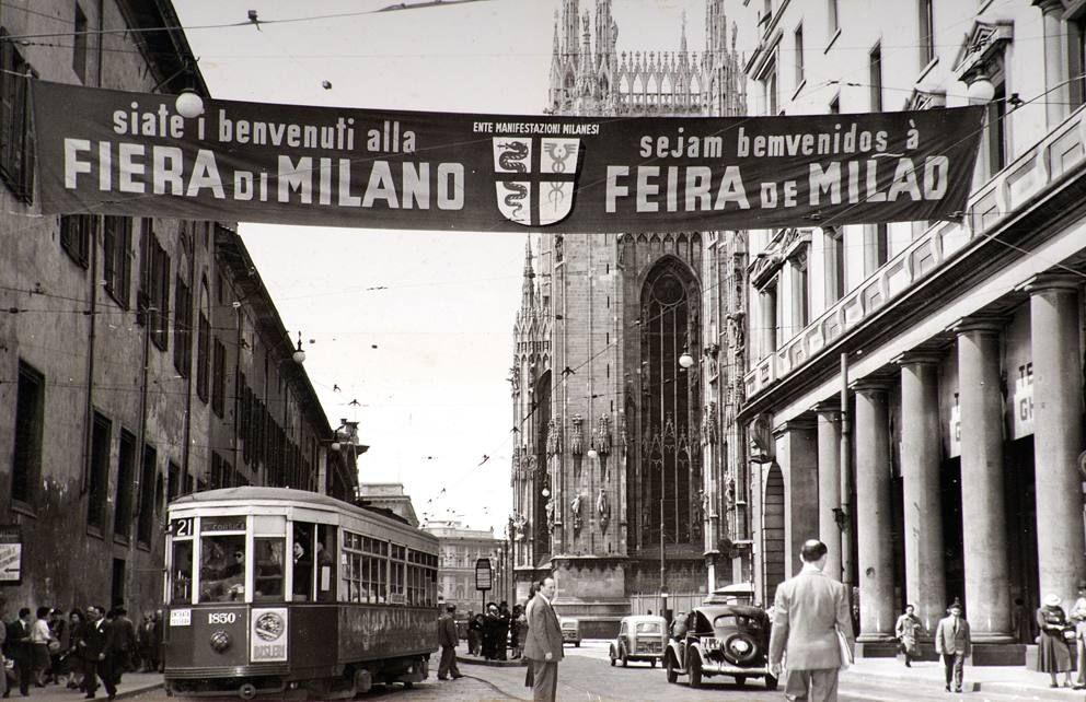 Striscione pubblicitario della Fiera, 1952 , Archivio storico Fondazione Fiera
