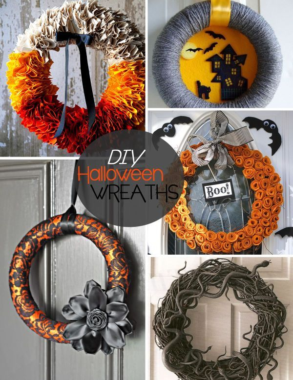20 DIY Halloween Wreath Ideas Home-made Halloween, Wreaths and - decorations to make for halloween