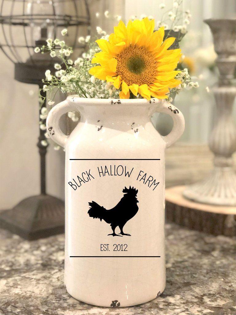 Farm Inspired Farmhouse Milk Jug Milk cans, Milk jug