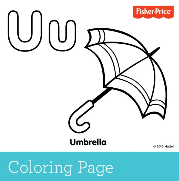 Uu0027 is for umbrella! Create some fun on a rainy afternoon and have - best of mattel coloring pages alphabet