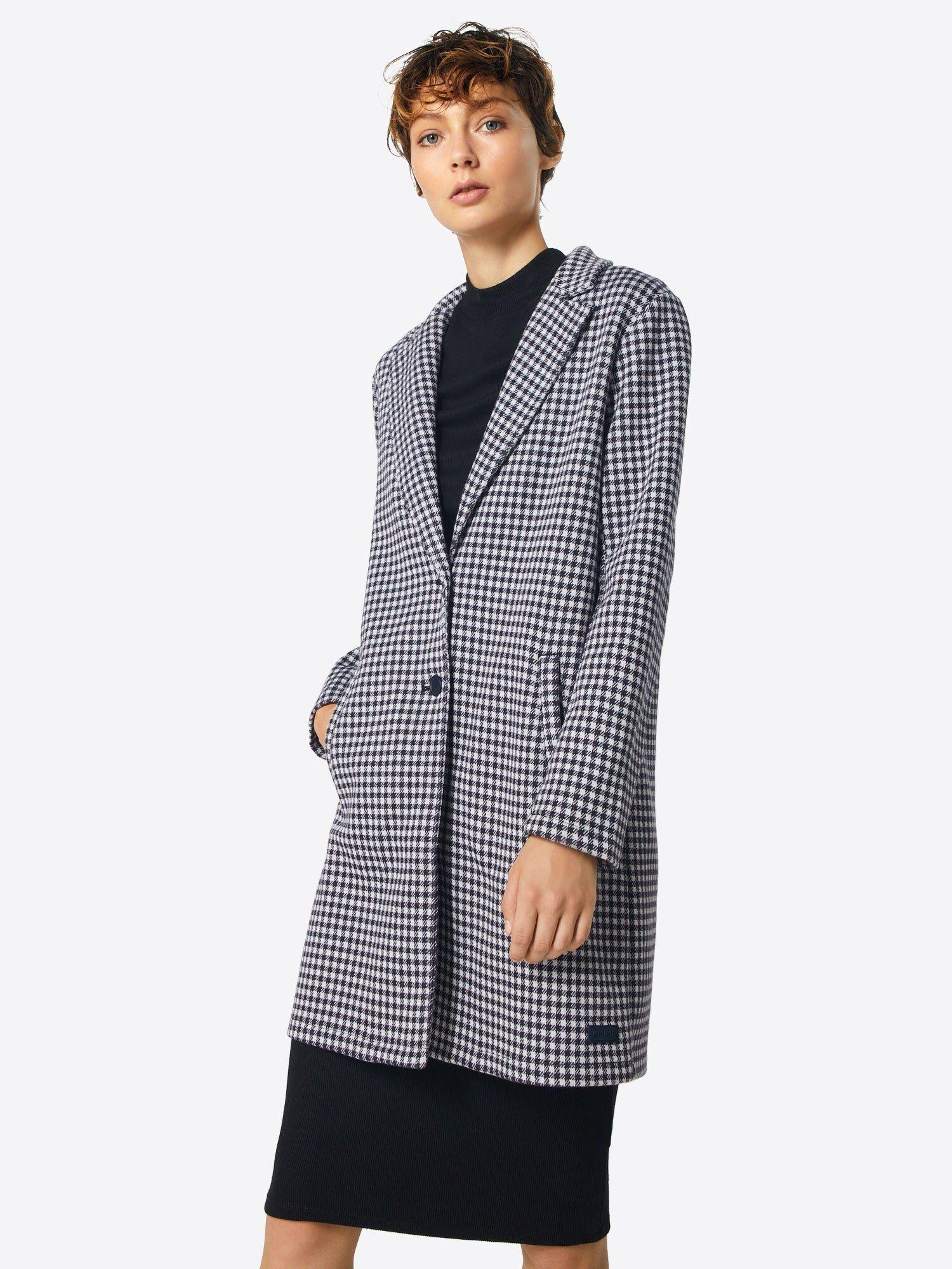Marc O Polo Denim Mantel Damen Schwarz Weiss Grosse Xl In 2020 Denim Mantel Mantel Damen Mantel