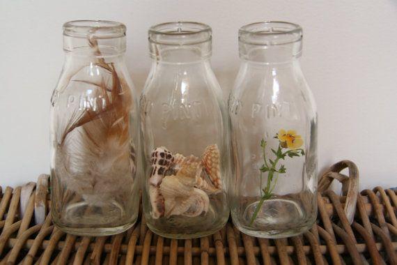 Last One Vintage Imperial Australian Third Pint Glass Milk Etsy Glass Milk Bottles Vintage Bottles Old Bottles
