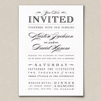 Wedding Invitation Wording Samples Fun wedding invitations