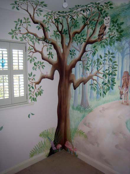 Fairy Tree Mural I Like How Its Done In The Corner Kids