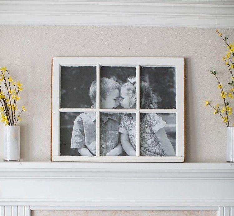 aus altem fenster ein bilderrahmen basteln bauen pinterest bilderrahmen basteln alte. Black Bedroom Furniture Sets. Home Design Ideas