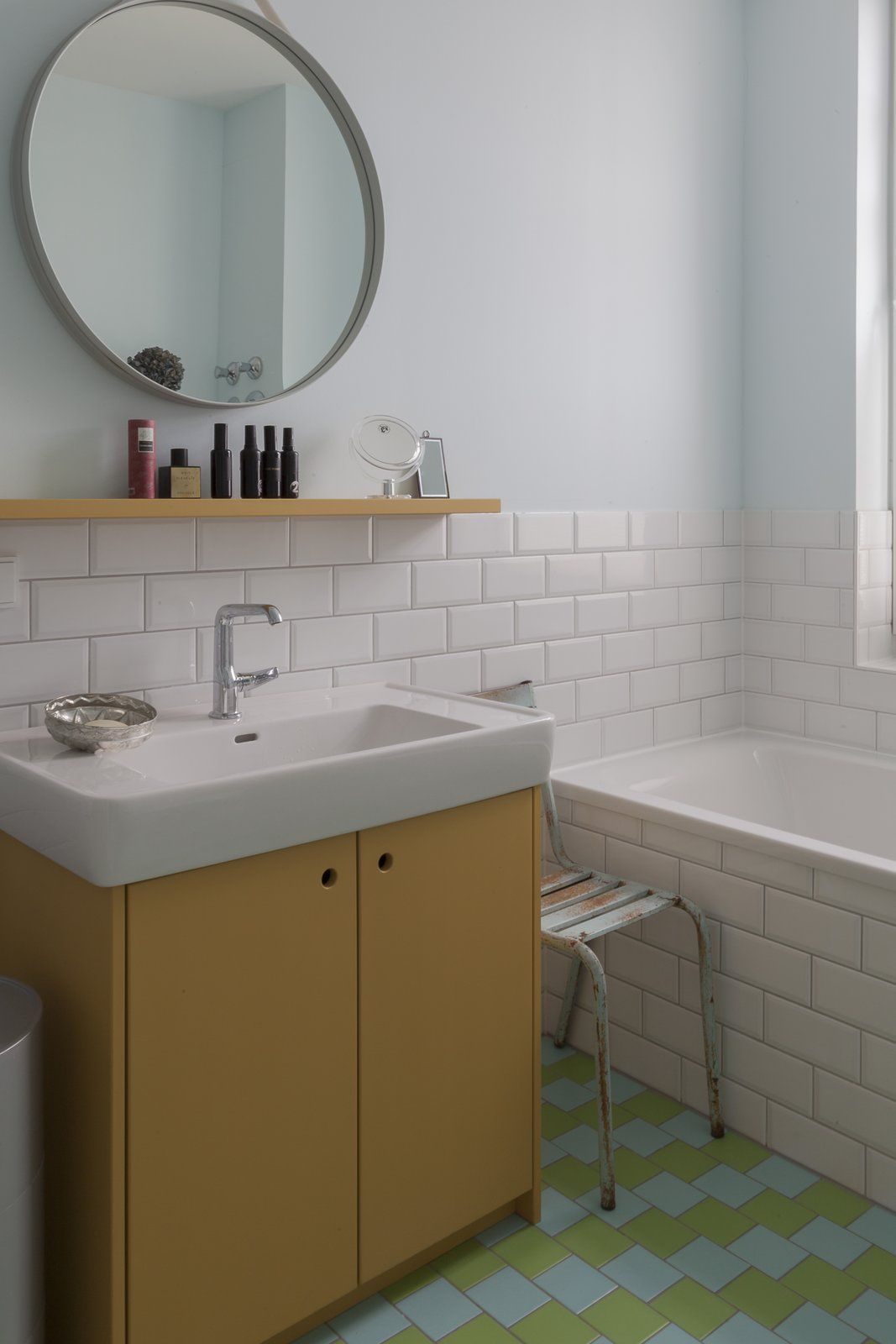 A 120 Year Old Victorian Cottage In Cape Town Gets A Glow Up In 2020 Light Blue Walls Berlin Apartment White Subway Tile