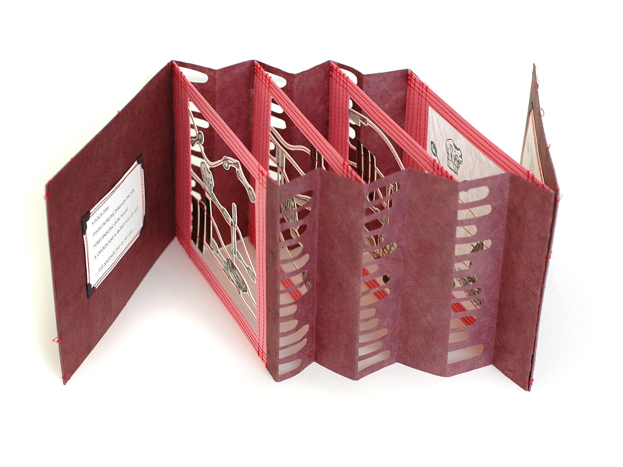 Portfolio Bettina Pauly Bookart And Letterpress Book Art Accordion Book Tunnel Book