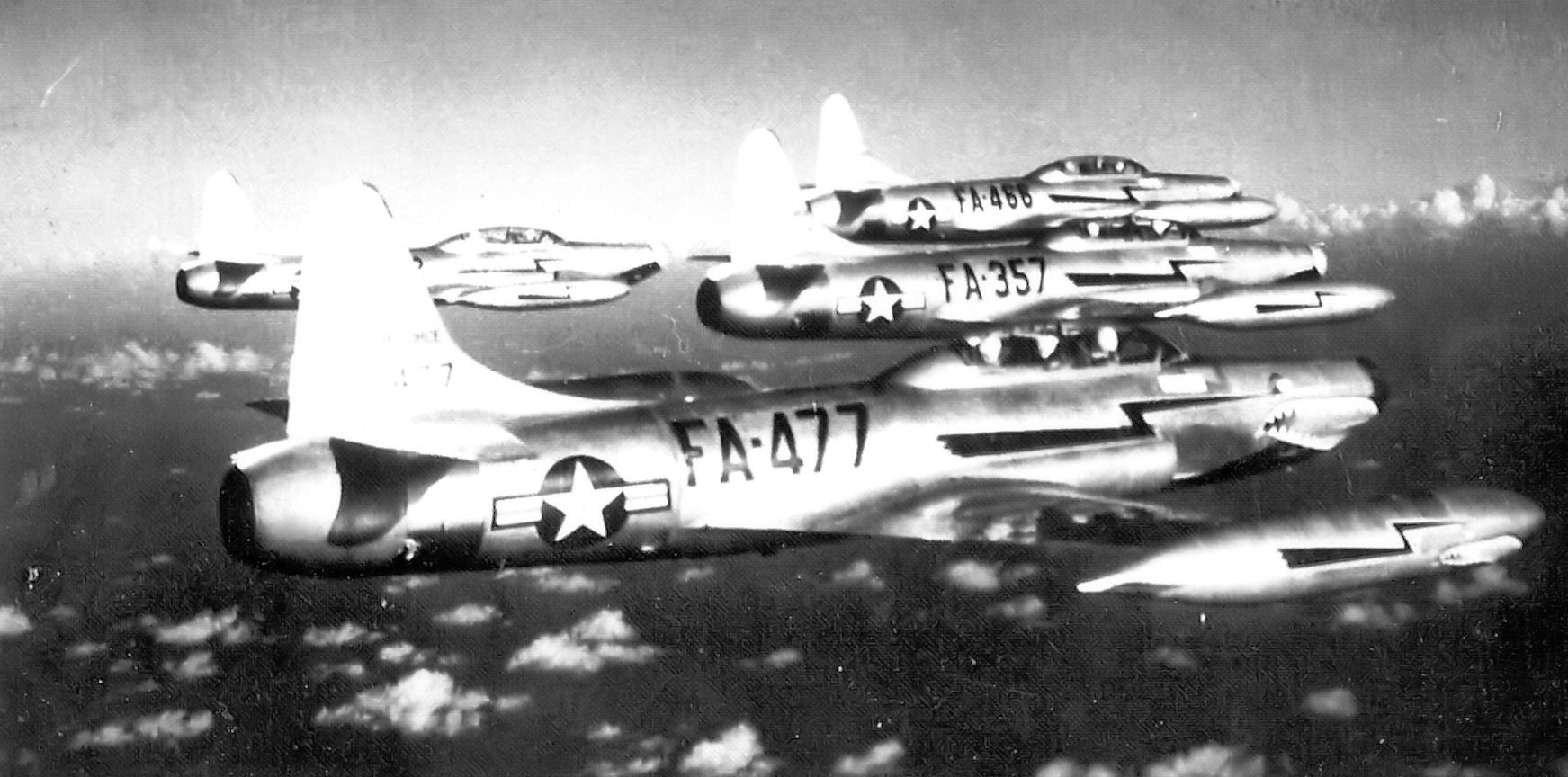 4th FighterInterceptor Squadron Lockheed F94B 4 plane