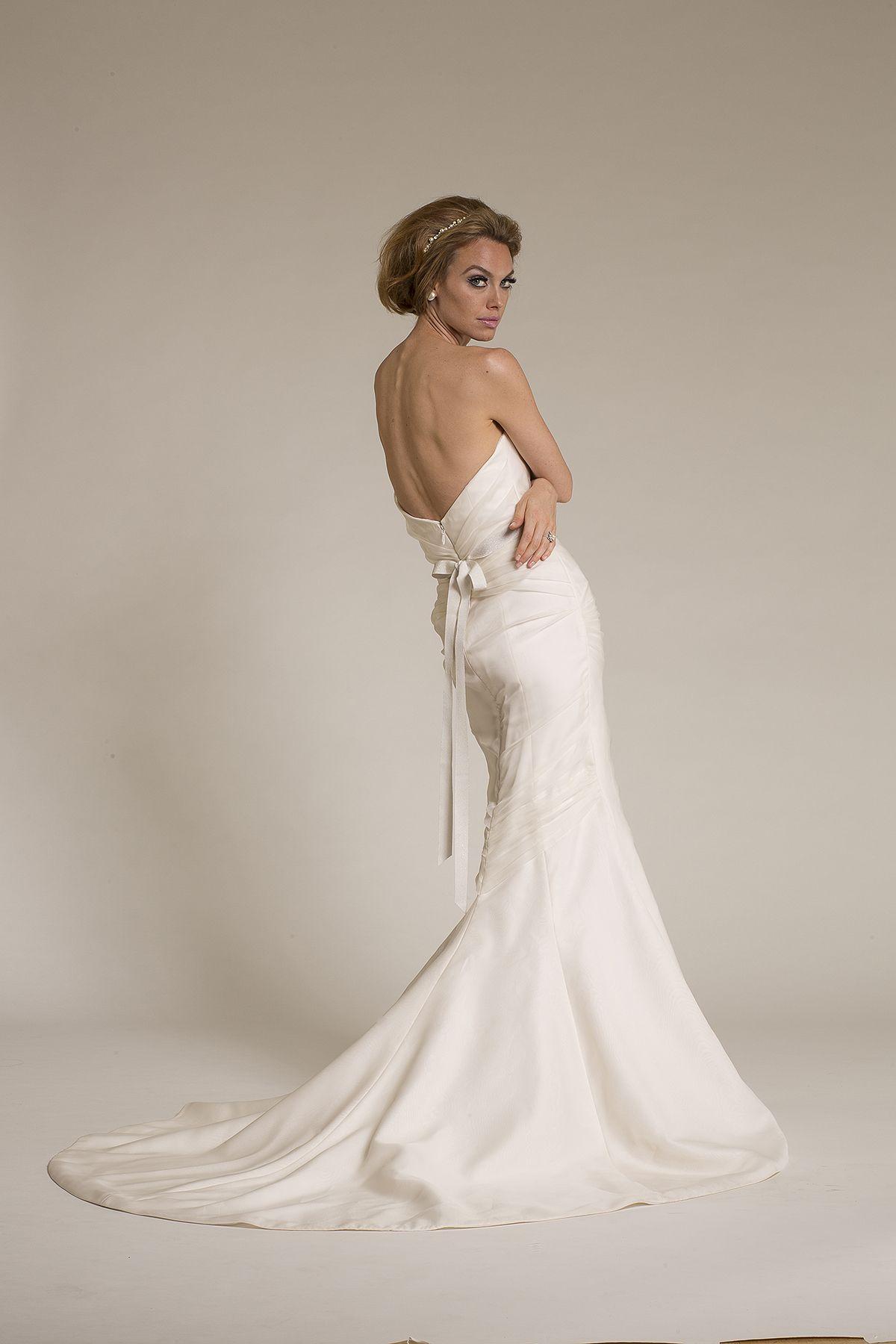 amy kuschel bride sugar wedding gown back view with barcelona sash