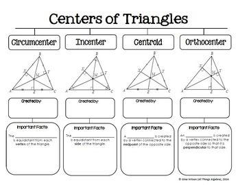 centers of triangles graphic organizer graphic. Black Bedroom Furniture Sets. Home Design Ideas
