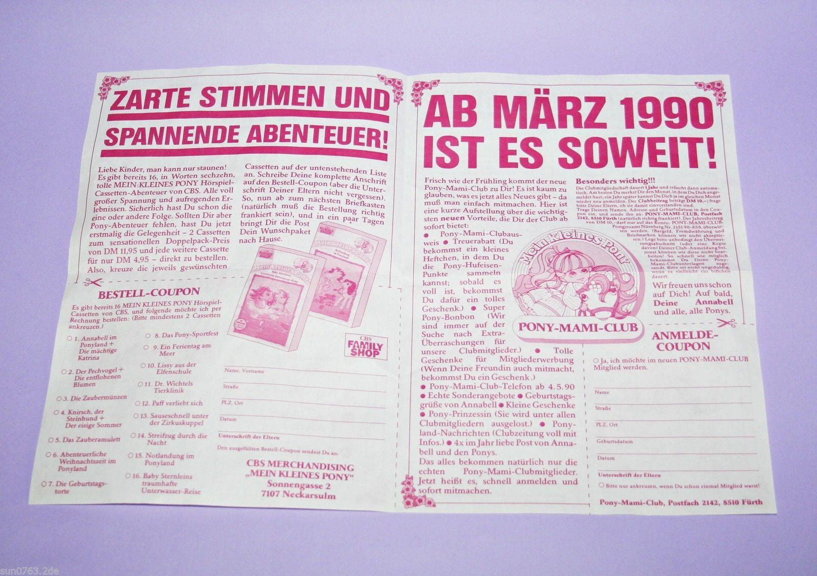 My Little Pony G1 Pony Land Nachrichten / German Pony Fan Club News | eBay
