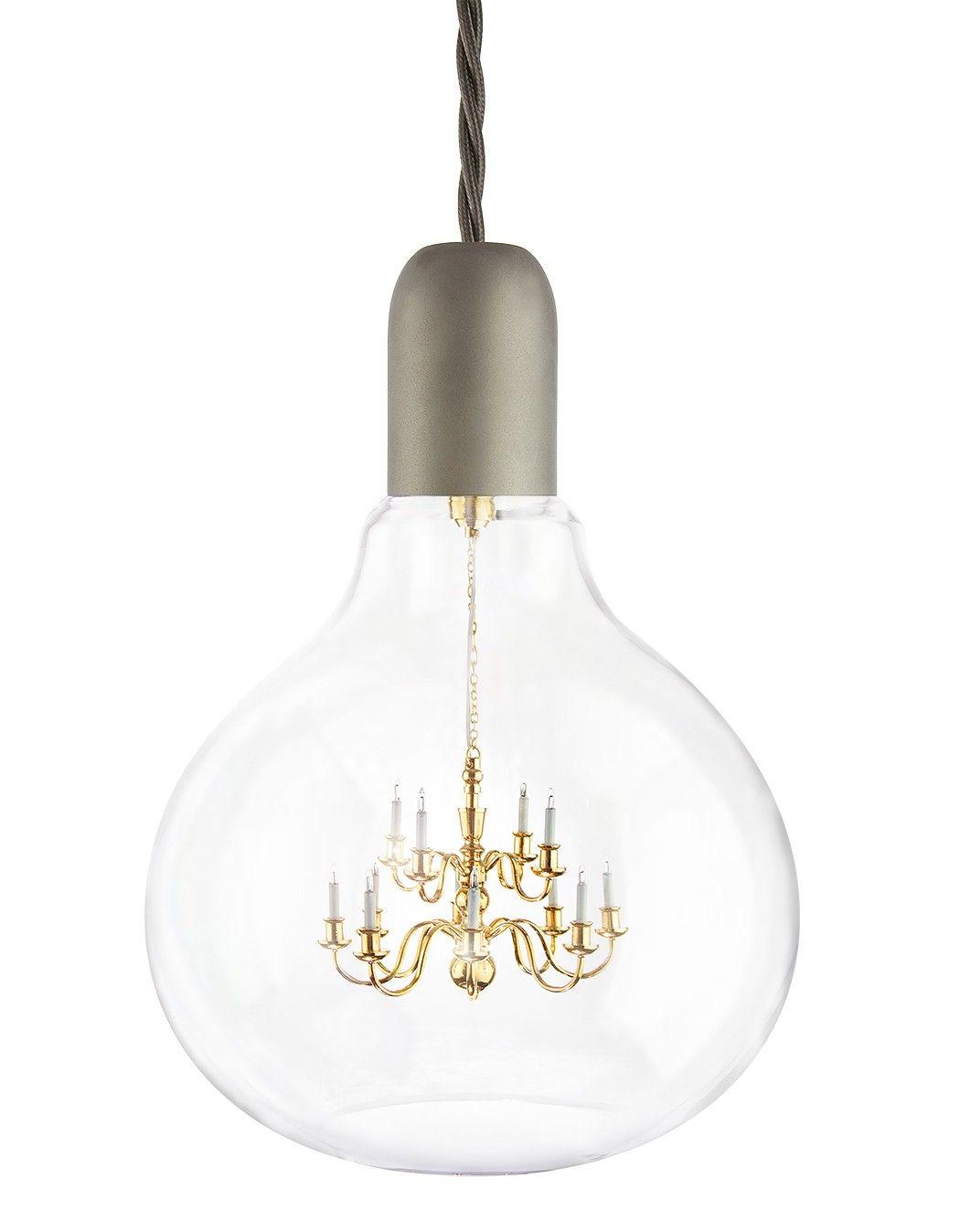 King edison pendant lamp theres a fully functional miniature king edison pendant lamp theres a fully functional miniature chandelier inside this bulb brilliant arubaitofo Gallery