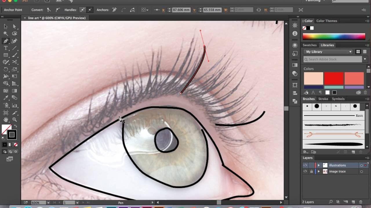 How To Make Line Art Effect In Photoshop : Adobe illustrator basic line art tutorial