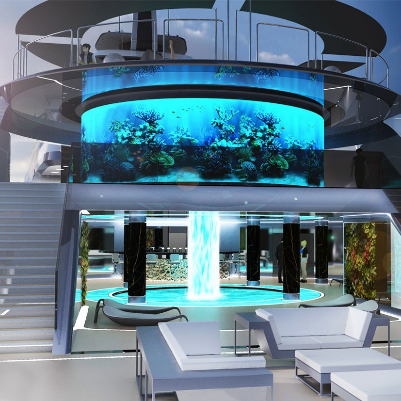 Scret Home House Luxury: Inspiring Superyacht Concept: Icon Selazzio 95 Sea Palace