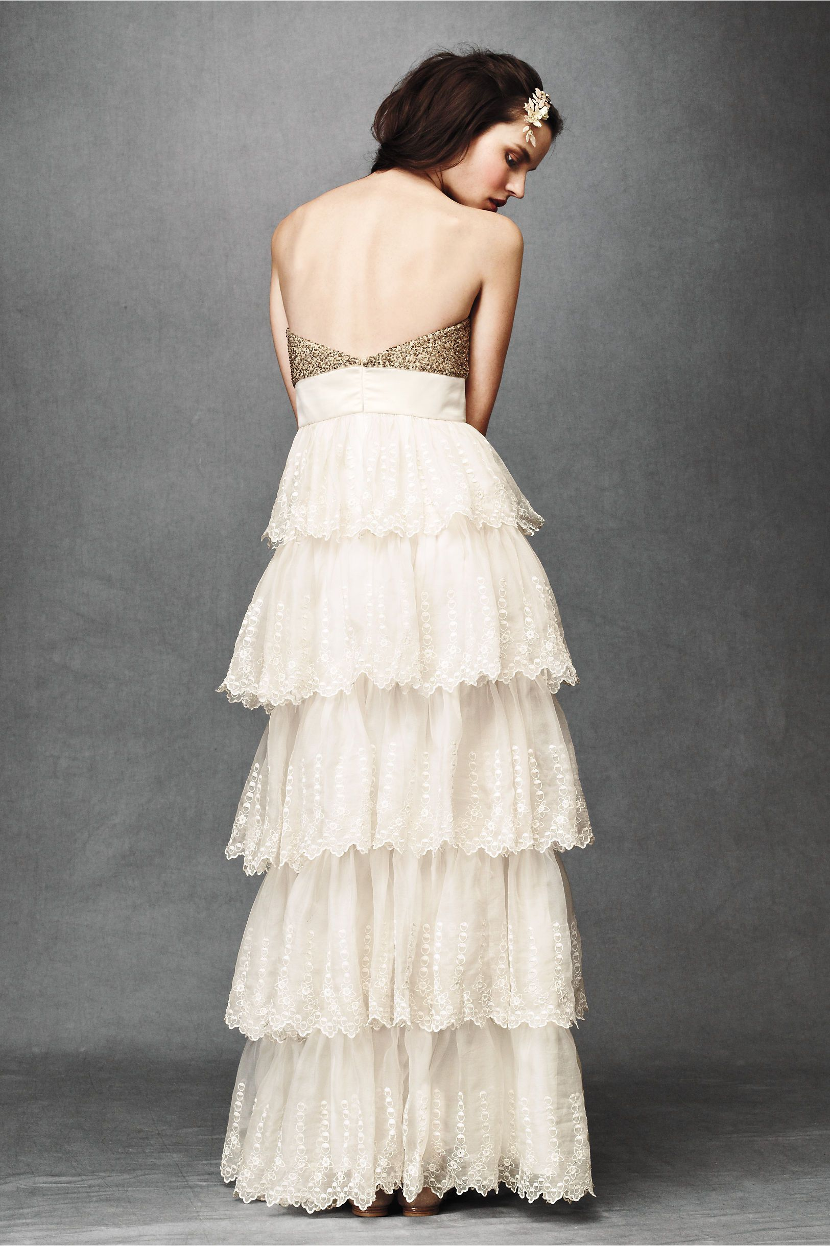 Burnished organza gown in shop the bride wedding dresses at bhldn