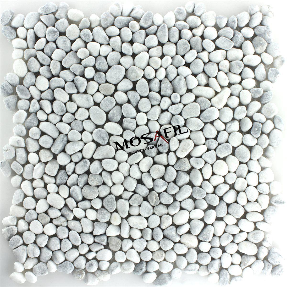 Flusskiesel Fliesen flusskiesel mini mosaik fliesen weiss grau pl78248m wohnen