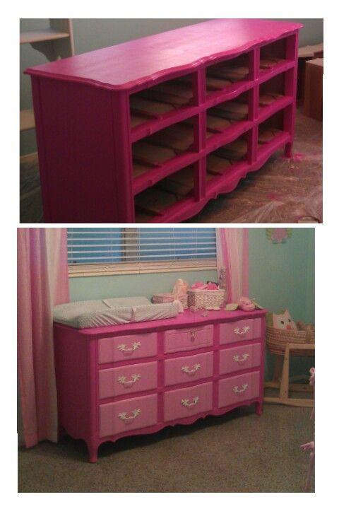 My Little Girlu0027s Antique Dresser Refinished