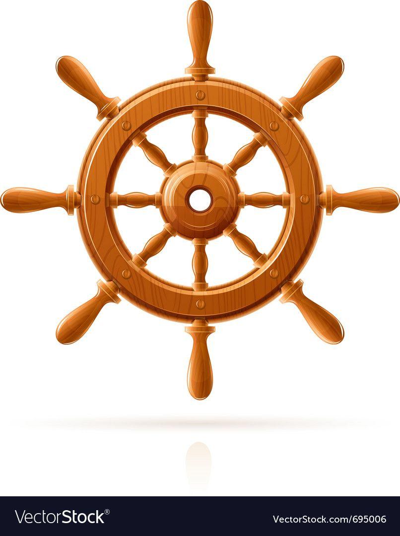 Ship Wheel Marine Wooden Vector Image On Vectorstock Ship Wheel Business Icons Vector Vector Free
