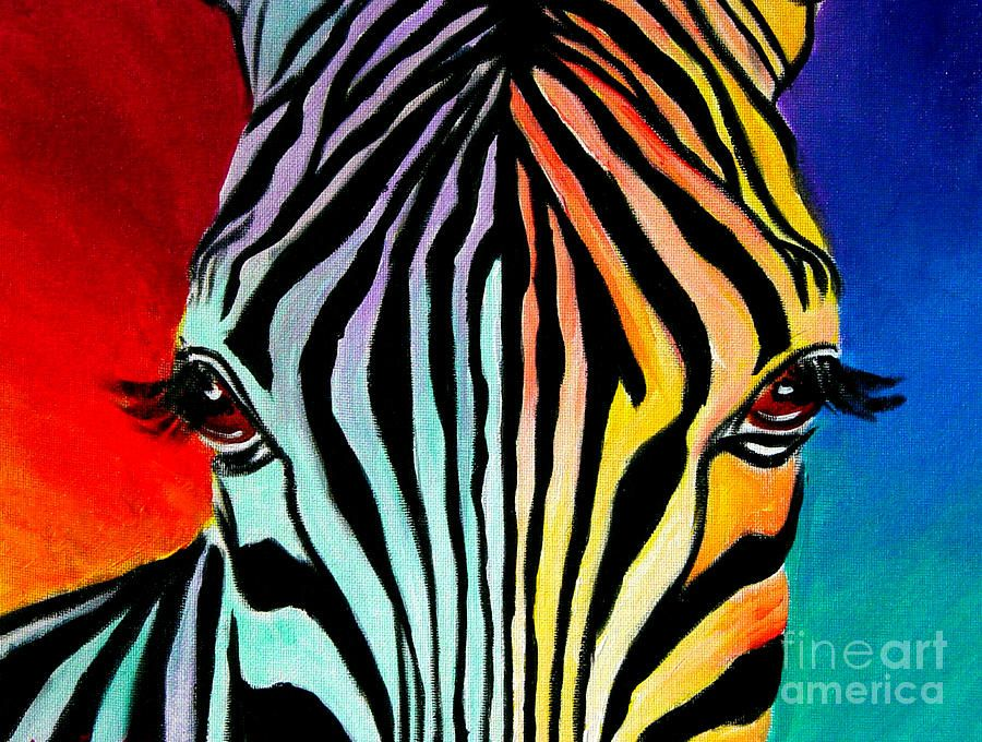 Trademark art zebra by dawgart painting print gallery wrapped on canvas