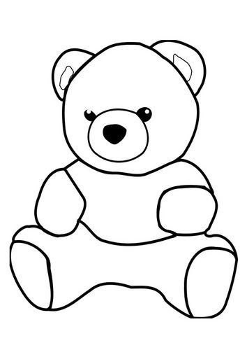 Kleurplaat beer | Petzi | Pinterest | Teddy bear, Bear und Coloring ...