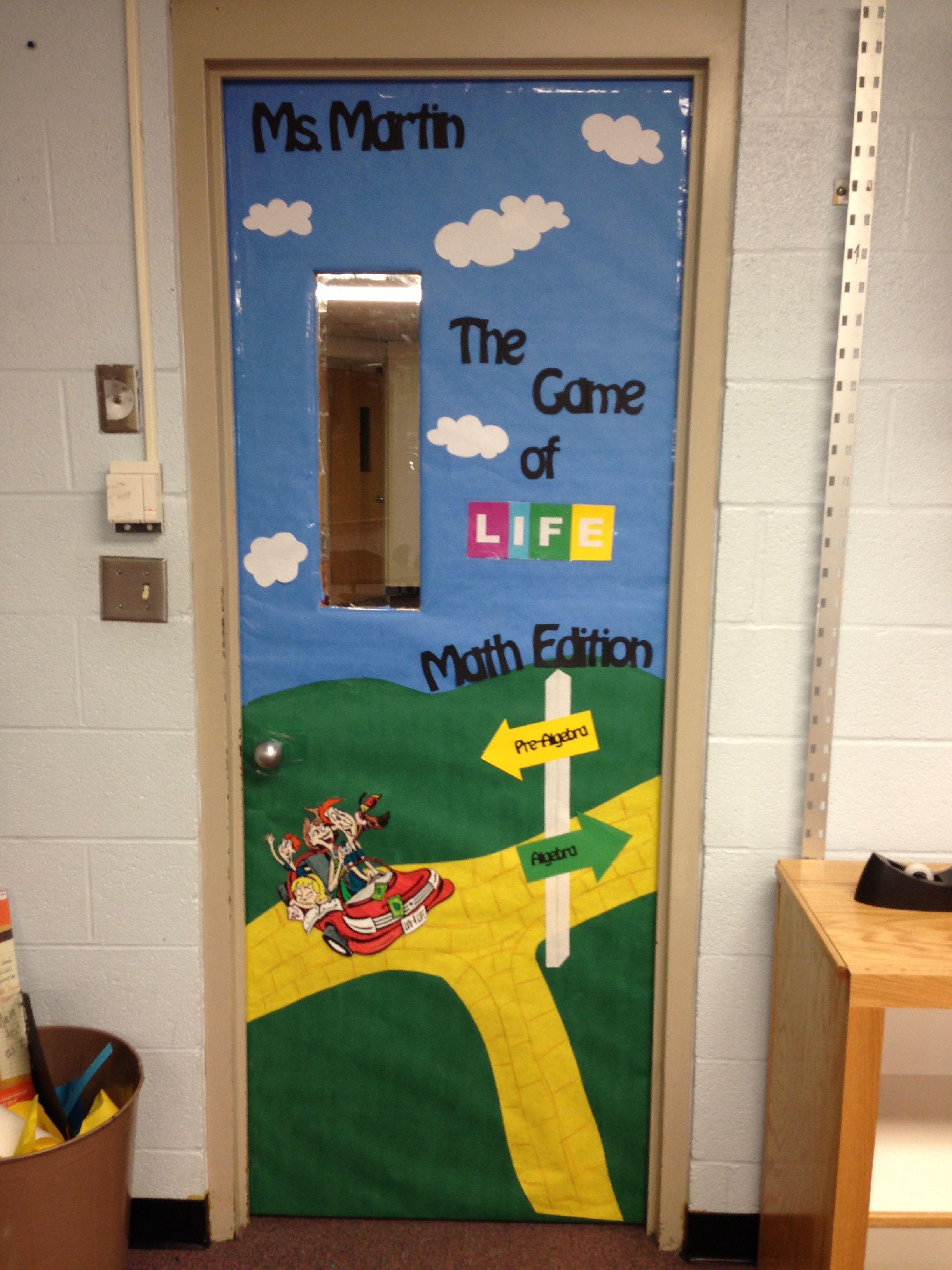Math Classroom Decoration ~ The game of life math edition door decoration