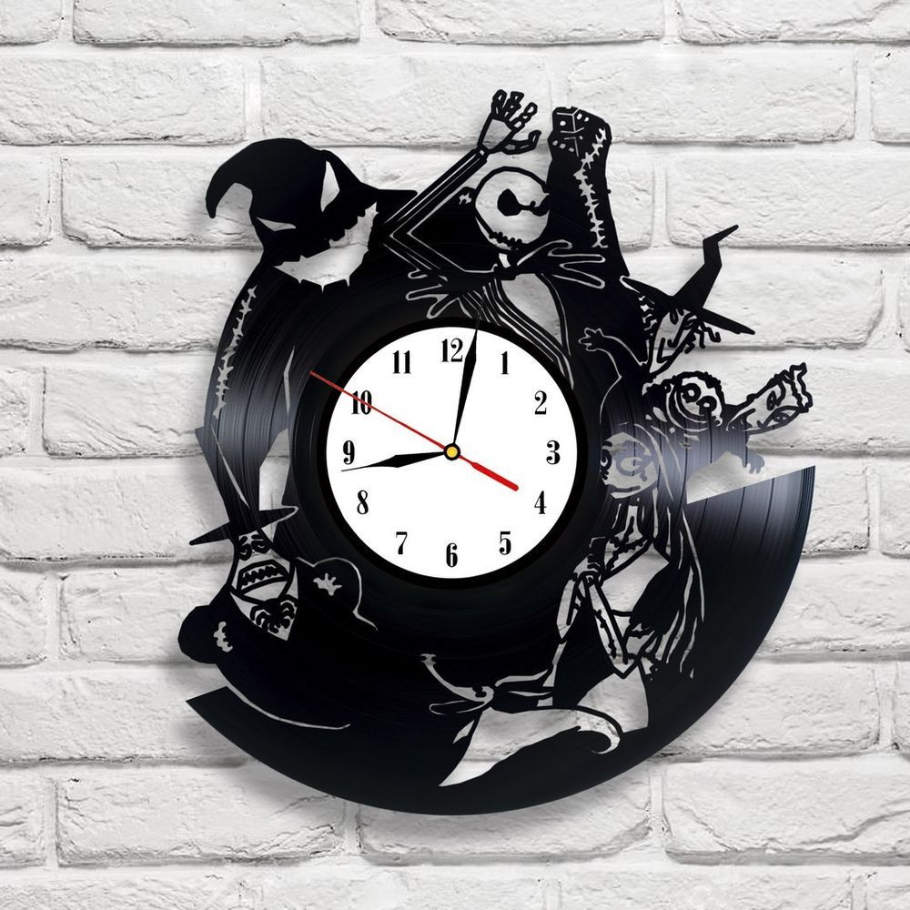 The Nightmare Before Christmas- 3 vinyl record clock | Halloween ...