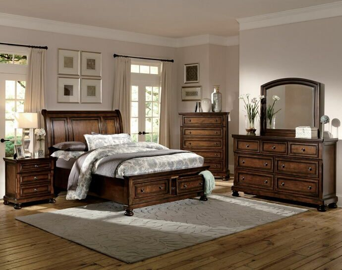 Home Elegance 2159-5PC 5 pc cumberland collection rich medium brown
