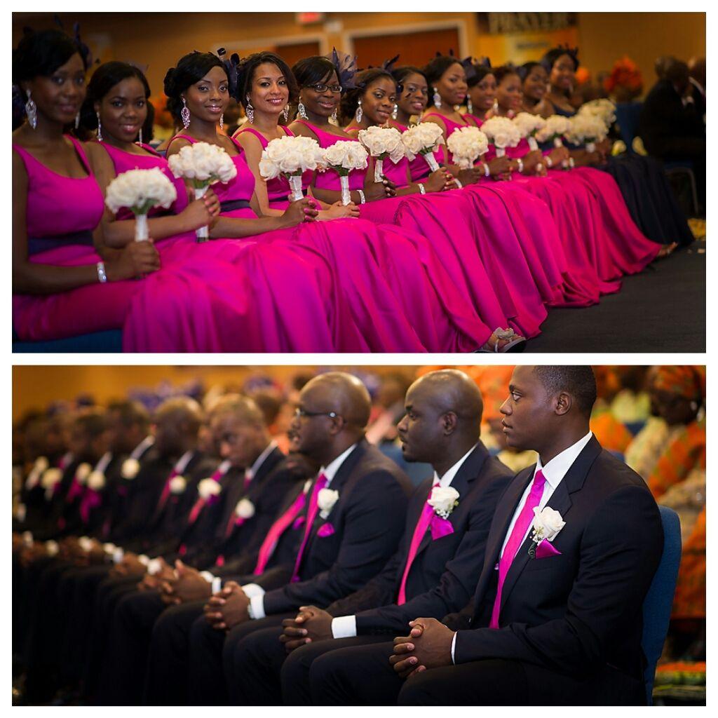 Nigerian Wedding 50 Beautiful Color Coordinating Ideas For Your Bridesmaids Groomsmen Nigeria Nigerian Wedding S Fuschia Wedding Fuchsia Wedding Wedding