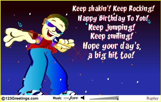 Rocking birthday card birthday card pinterest happy birthday birthday dj bookmarktalkfo Image collections