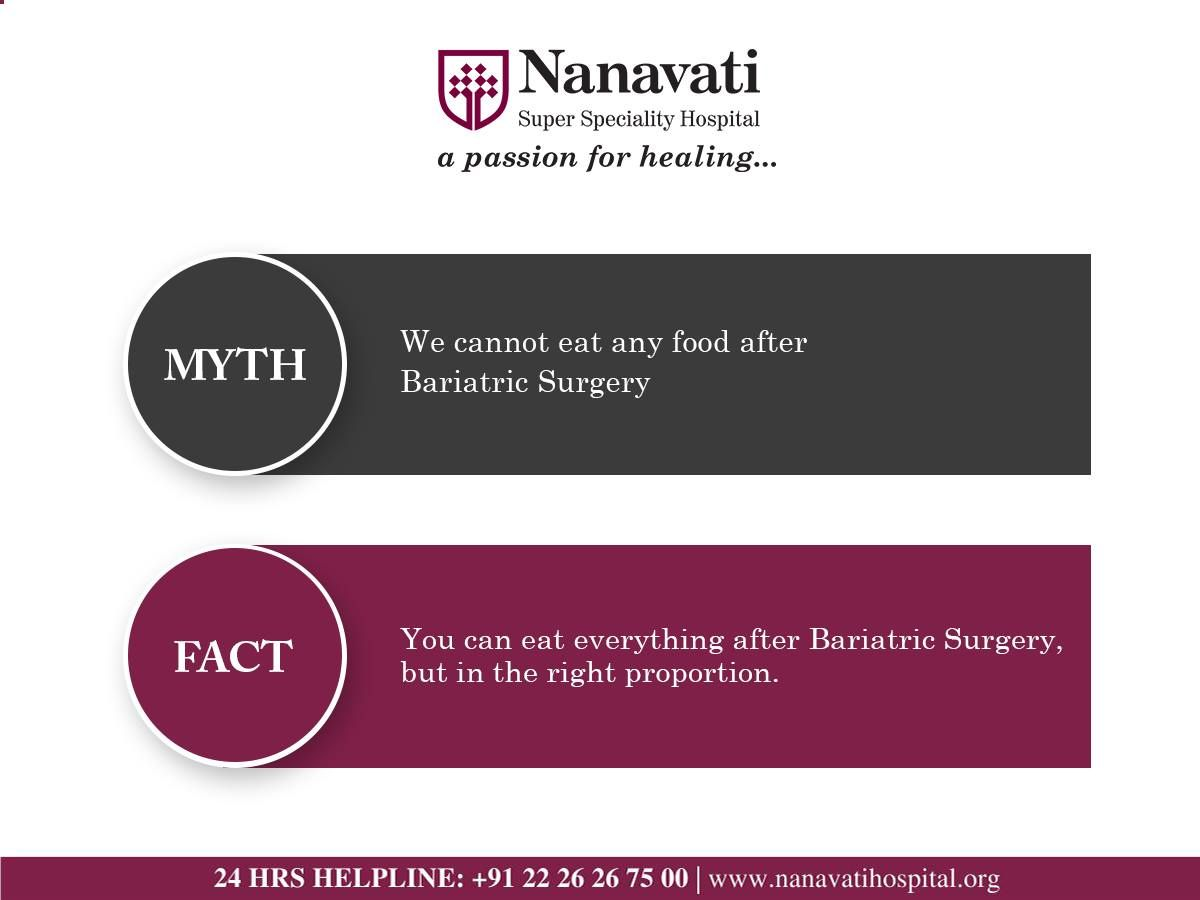Know the myth fact about bariatric surgery by dr
