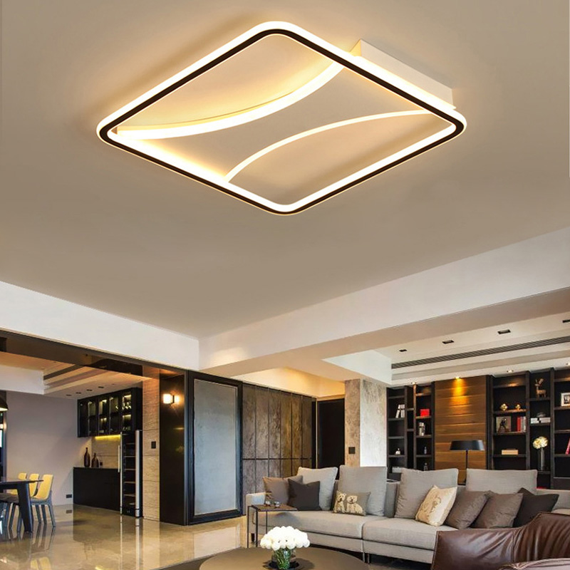 modern led flush mount square ceiling light creative artistic lamp living room bedroom lighting 8145 lamps design hunter fairhaven fan