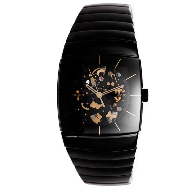 f9d86bddd Rado Black Ceramic Sintra Skeletonized Wristwatch