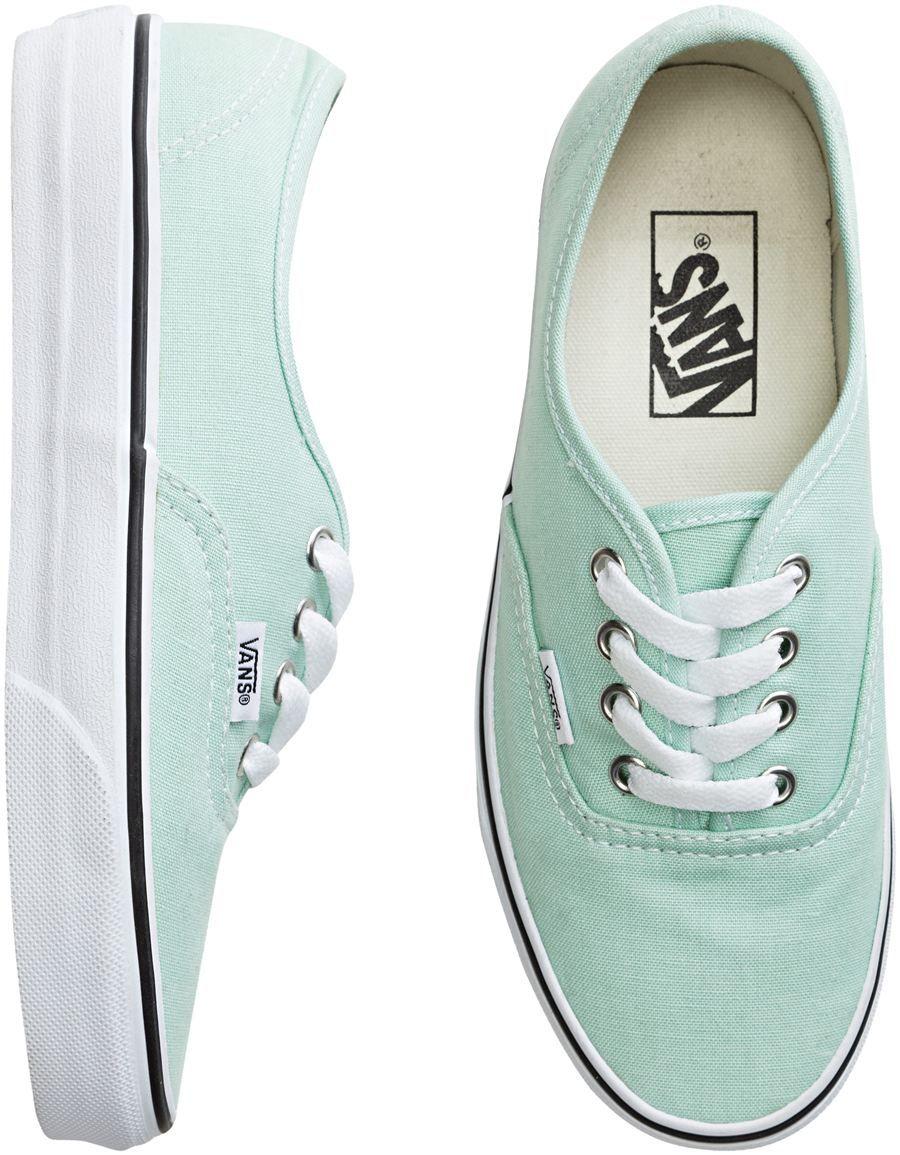 vans schoenen mintgroen