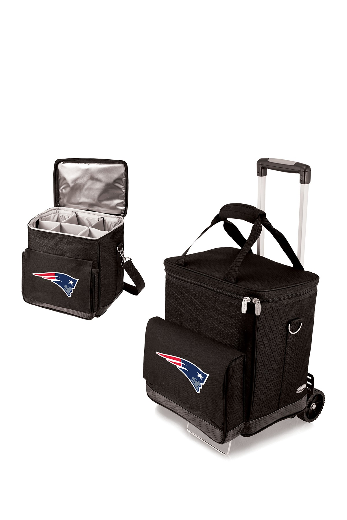 Picnic Time New England Patriots Cellar Trolley Wine
