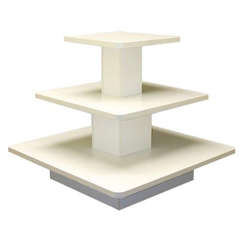 3 Tier Square Display Table Merchandise Display Table Display Furniture Wood Display