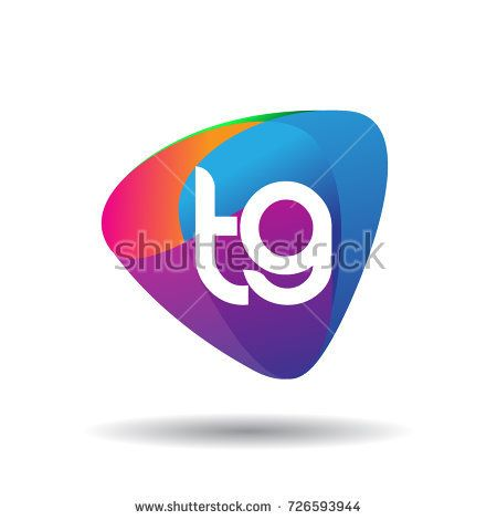 Letter Tg Logo With Colorful Splash Background Letter