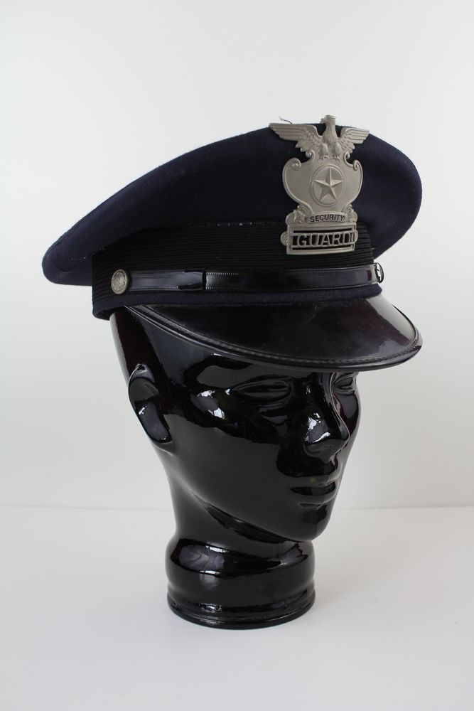 Vintage 1960s Security Guard Sentry Cap Hat !!POLICE - guardian security guard sample resume