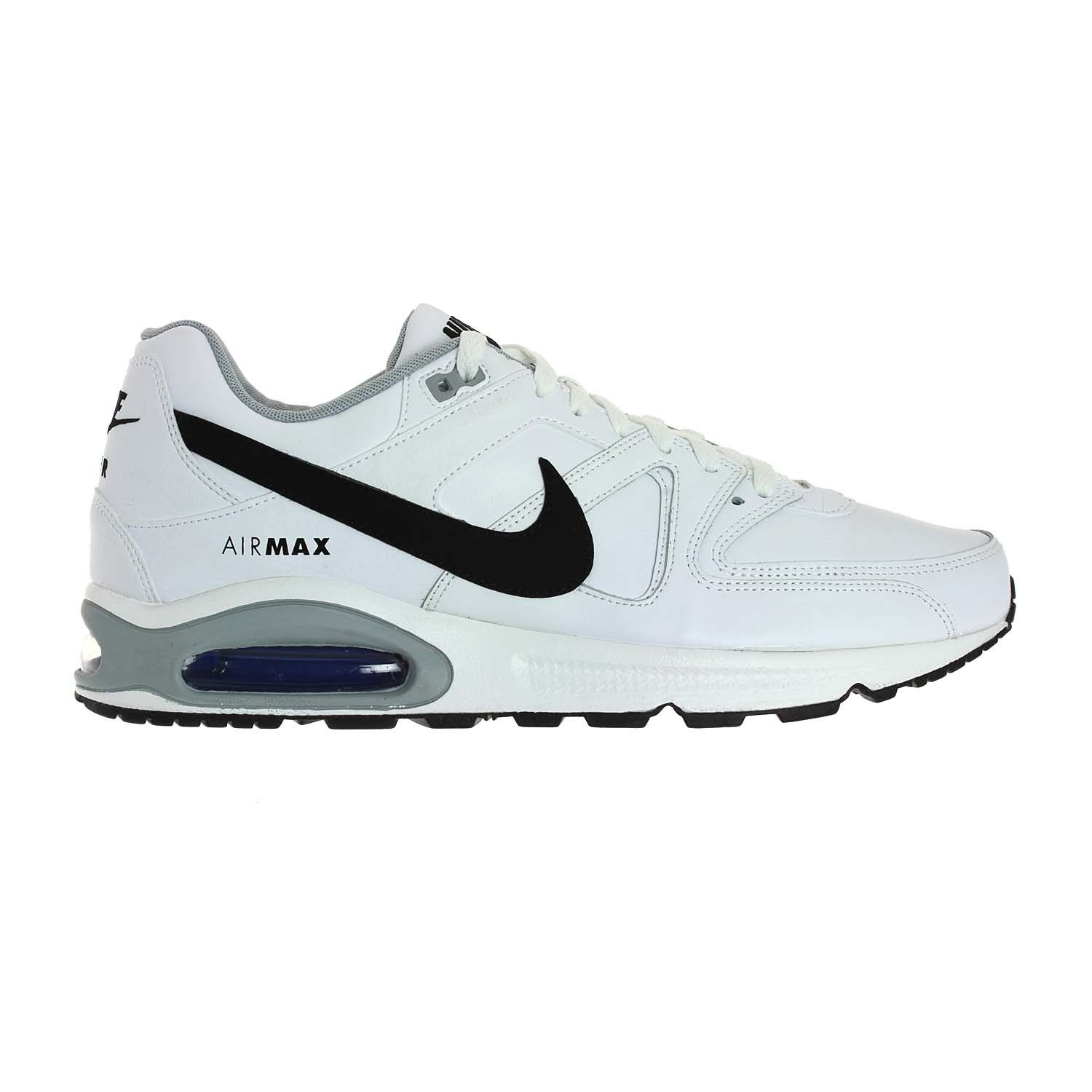 nike air max command leather cool grey / white - team red color