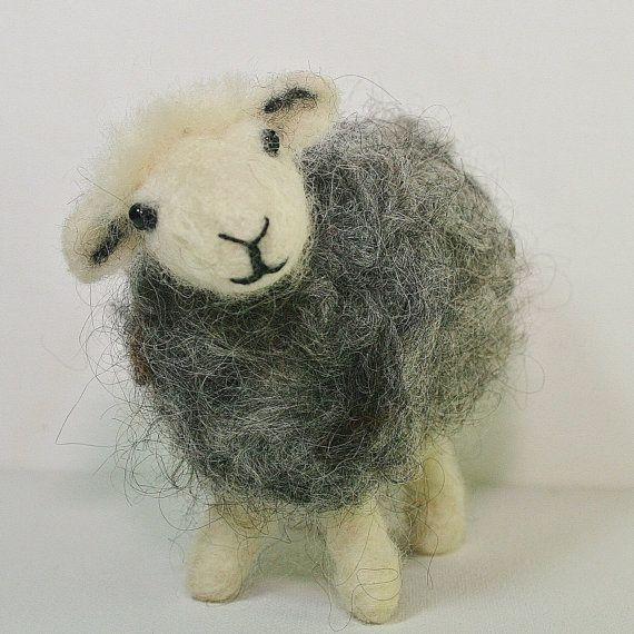 Schaf Filzen Kit für Anfänger / Herdwick Nadel Filzen Kit plus Anfänger Video-Tutorials - perfekte kreative Geschenk für Schafliebhaber.