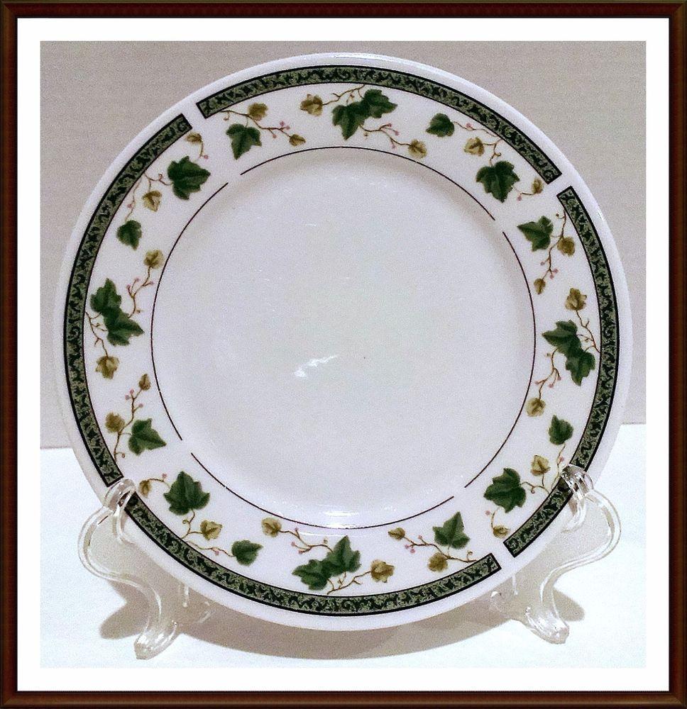 China dinnerware  sc 1 st  Pinterest & Salad Plates By Sango In Ivy Charm Pattern Set of 6   Salad plates ...